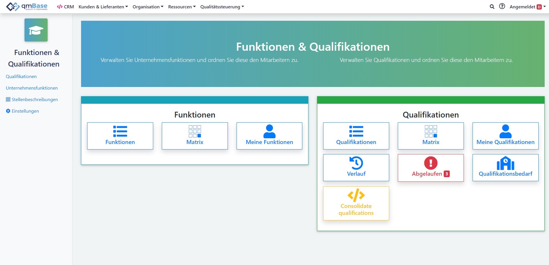 Schulungsmanagement Software Qualifikationsmanagement