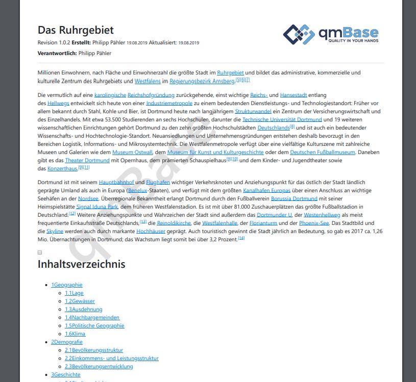 Kostenerfassung im Schulungsmanagement qmBase Qualitätsmanagementsoftware