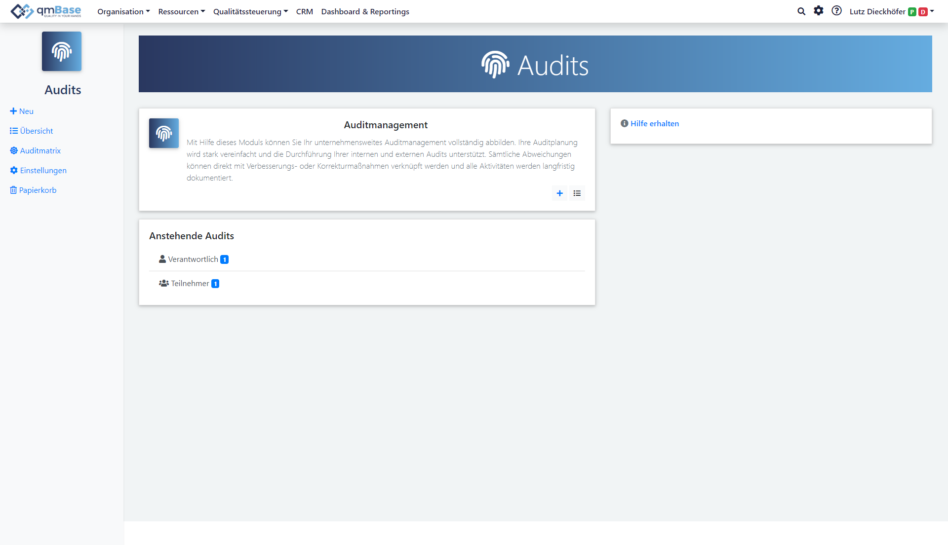 Auditmanagement Software Startseite