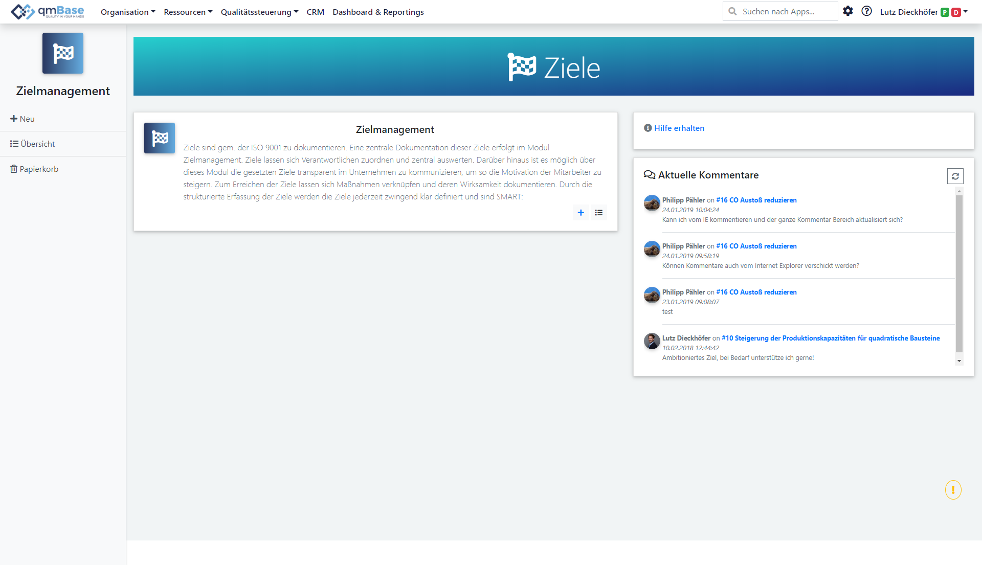 Zielmanagement Software
